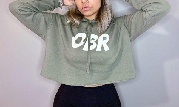 OBR Crop Hoodie - Green crop top hoodie