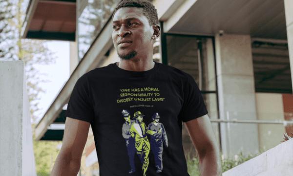 MLK - Non-violent protest of segregation tshirt- Neon (1)