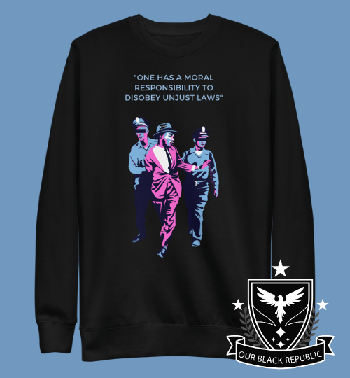 MLK - Non-Violent Protest of Segregation Sweater - Magenta