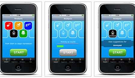 O aplicativo da iPhone anuncia que é capaz perceber a diferença entre cinco tipos diferentes de choro de bebê