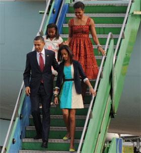 Back Obama cheando a Brasília