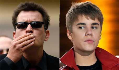 ustin Bieber e Charlie Sheen