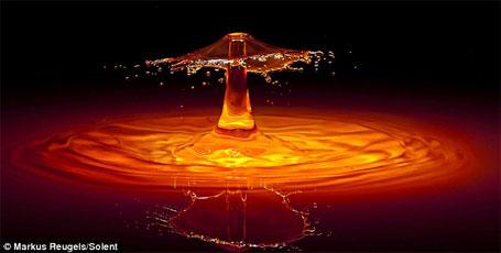 Foto 1 - obra de arte feita com água