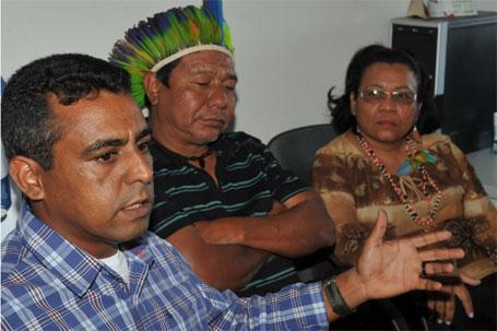 Lideranças indígenas rompendo com governo