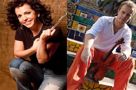 Julie Koidin e o violinista francês Nicolás Krassic