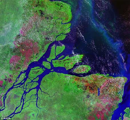 Foto Amazônia subterrânea,2º Rio Amazonas, Nasa