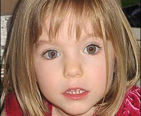 Foto de Madeleine McCann, criança desaparecida