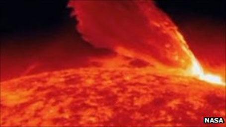 Foto da Nasa, tempestade solar