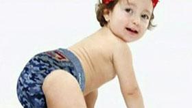 Foto bebê com Fraldas fashion',  bebês com estilo
