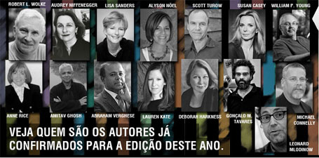Foto de escritores 15ª Bienal do Livro do Rio de Janeiro