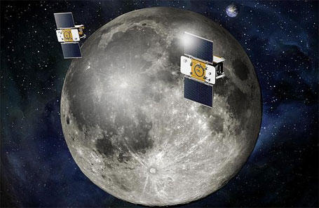 Foto Nasa Sonda Grail orbitando a Lua