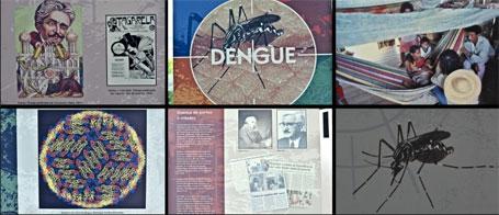 Foto da exposição da fiocruz sobre combate dengue