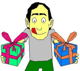 Ilustração presentes dia da criança
