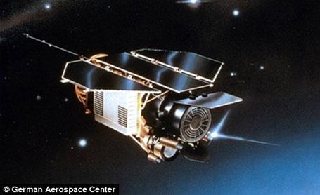 Imagem satélite alemão que vai cair na Terra