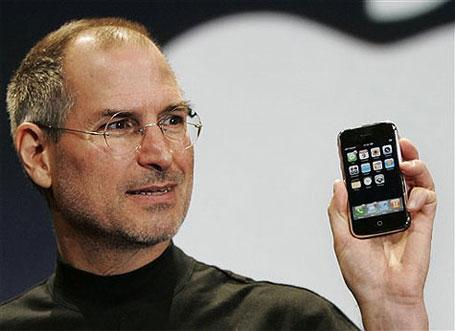 Foto de Steve Jobs feliz