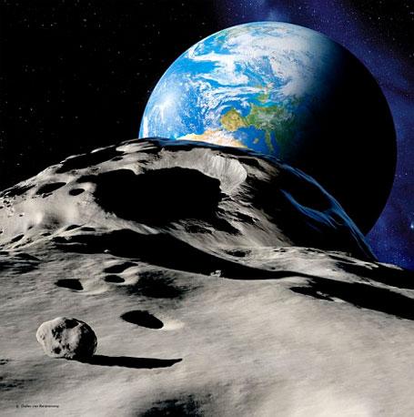 Imagem asteroide gigante vai passar entre a Terra e a Lua