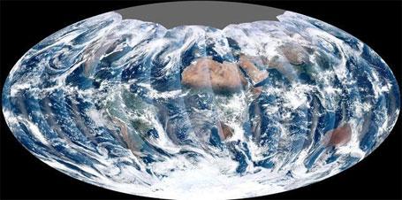 Foto do planeta Terra tirada pelo satélite VIIRS da Nasa