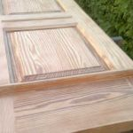 Restauración de puerta de madera