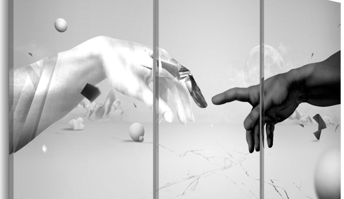 nowoczesne obrazy czarno białe