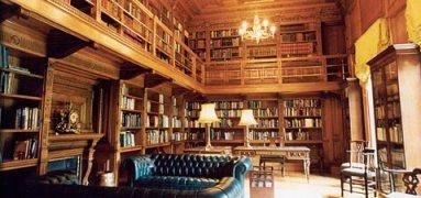 The library in Farmleigh House, Dublin