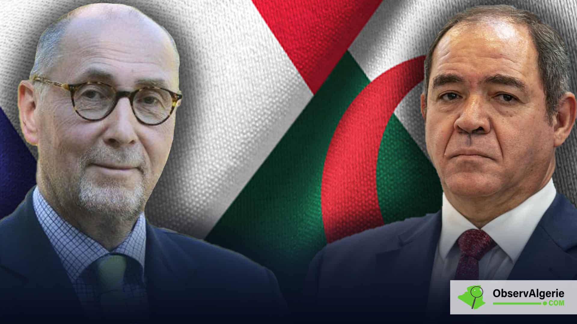 Première réaction de la France à la convocation de son ambassadeur en Algérie