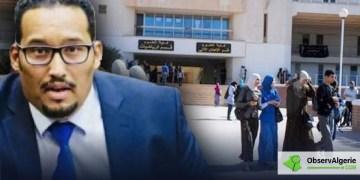 Le sénateur Mahmoud Kissari avec en arrière plan l'extérieur d'une université algérienne