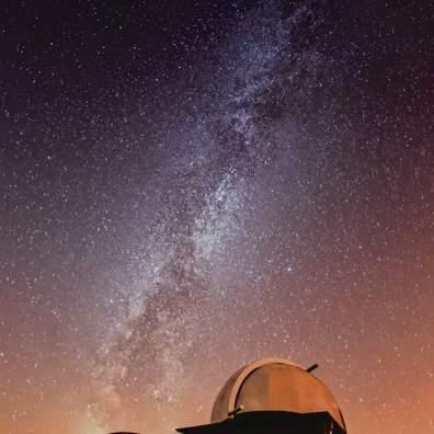 Voie lactée au-dessus de l'Observatoire