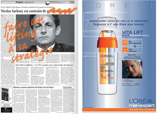 Le lifting de Sarkozy dans Le Monde