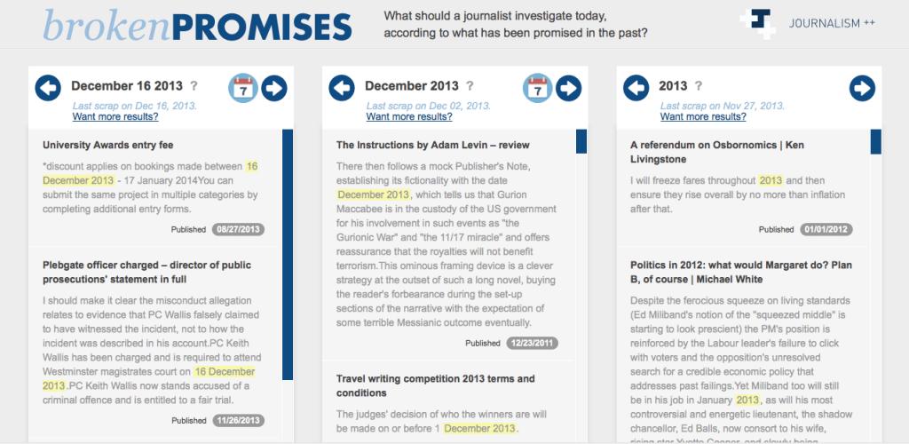 Screenshot Broken Promises