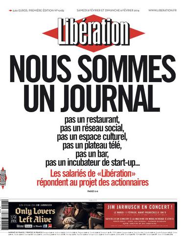 """""""Nous sommes un journal"""", la Une du samedi 8 février"""