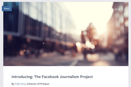 The-Facebook-Journalism-Project
