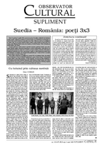 Suedia – România: poeţi 3x3