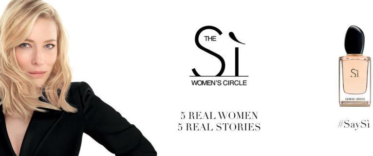 GIORGIO ARMANI INNOVATES WITH THE CREATION OF THE SÌ WOMEN'S CIRCLE