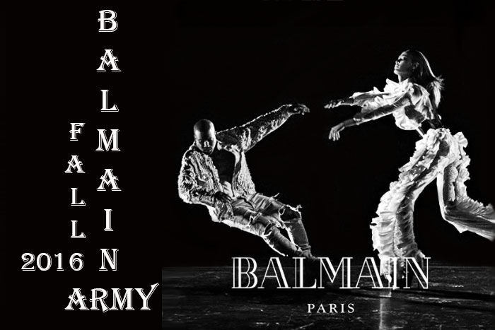 Kanye west joan smalls balmain fall 2016 ad campaign