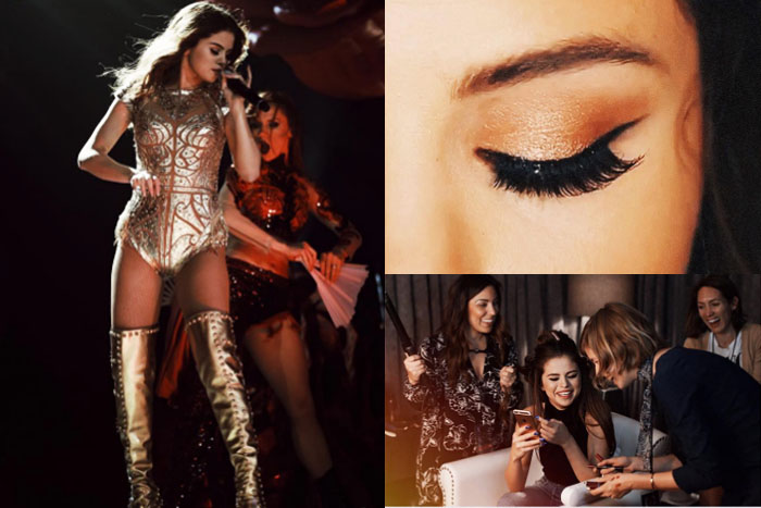 Selena gomez revival tour copper eye makeup tutorial