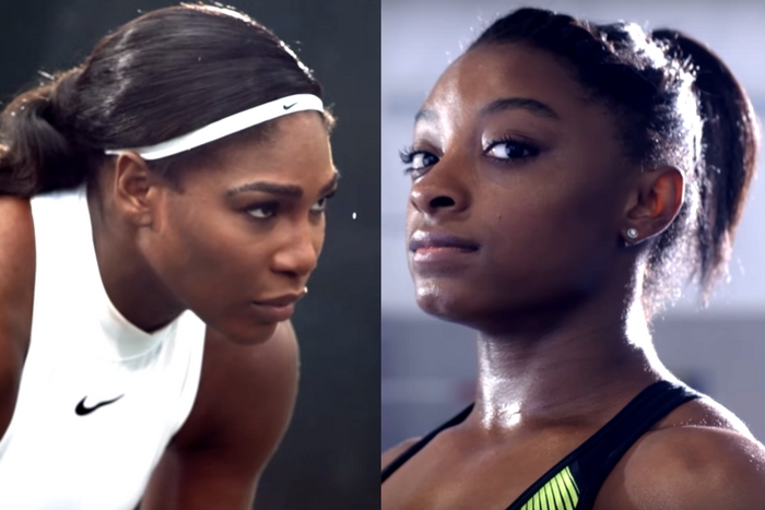 Serena williams simone biles oympics nike film