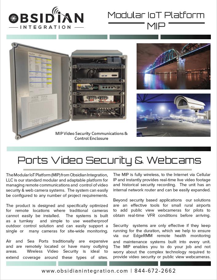 Wireless Port Security Camera