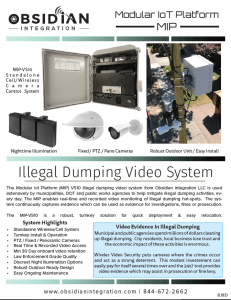 Wireless Cellular Illegal Dumping Camera