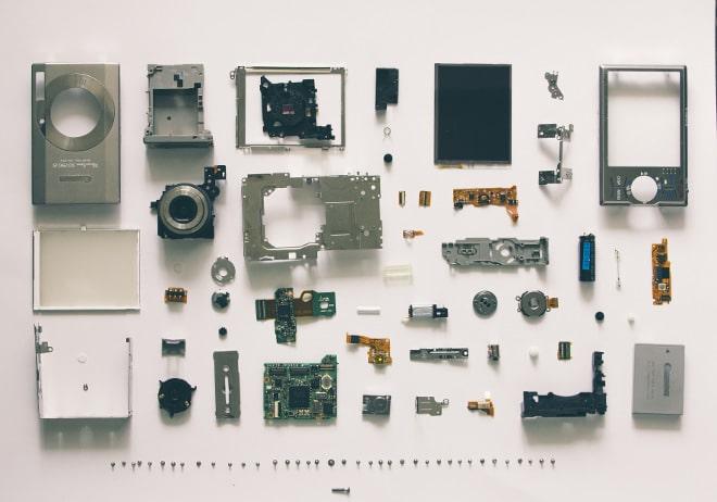 Réparer les objets avec les pièces détachées