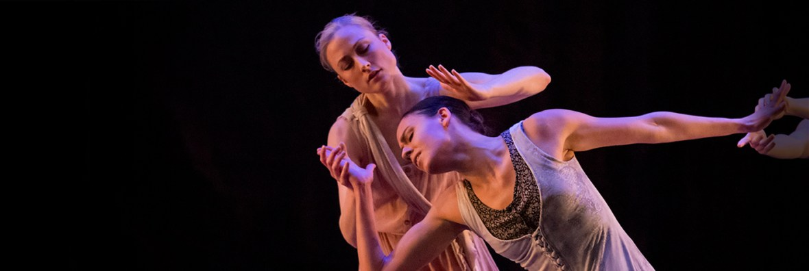 Candace Bouchard, Sarah Griffin, and Ansa Deguchi in Nacho Duato's Rassemblement. Photo by Blaine Truitt Covert.