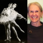 Left: Jacqueline Martin Schumacher and Lew Christensen in the first full-length production of Swan Lake performed in the United States. Right: Jacqueline Martin Schumacher pictured at OBT in 2008.