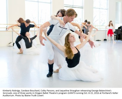 Oregon Ballet Theatre's program GIANTS running Oct. 8-15, 2016