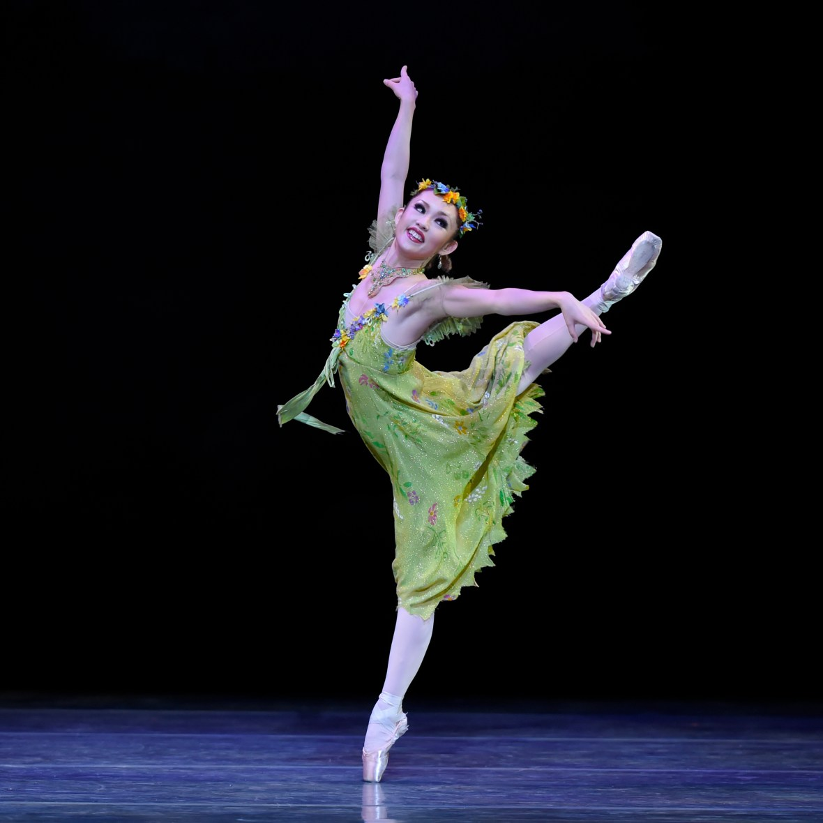 """Ansa Deguchi (as the Spring Fairy) in the company premiere of Ben Stevenson's """"Cinderella,"""" running February 28 - March 7, 2015, at Portland's Keller Auditorium. Photo by Yi Yin."""