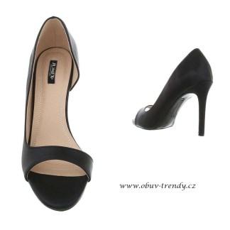 společenské sandálky černé