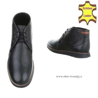 kotníková obuv pánská kožená