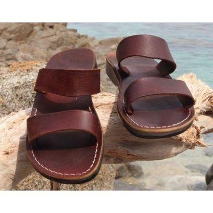 ručně šité kožené sandály Taharka