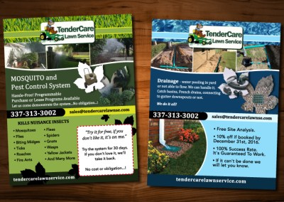 Tender Lawn Care Flyers