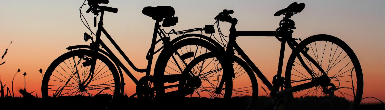 Bicycle Rentals at Sunset in the OBX