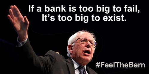 'Se um banco é grande demais para quebrar, então ele é grande demais para existir' (tradução livre)