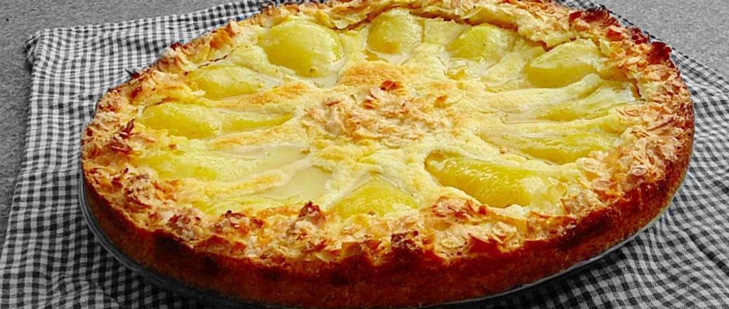 gebak peren appeltaart